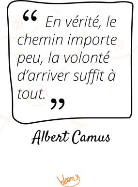 En vérité, le chemin importe peu, la volonté d'arriver suffit à tout. Albert Camus